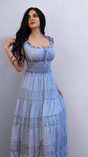 Легкое хлопковое платье. Произв-во Индия.  100% хлопок.