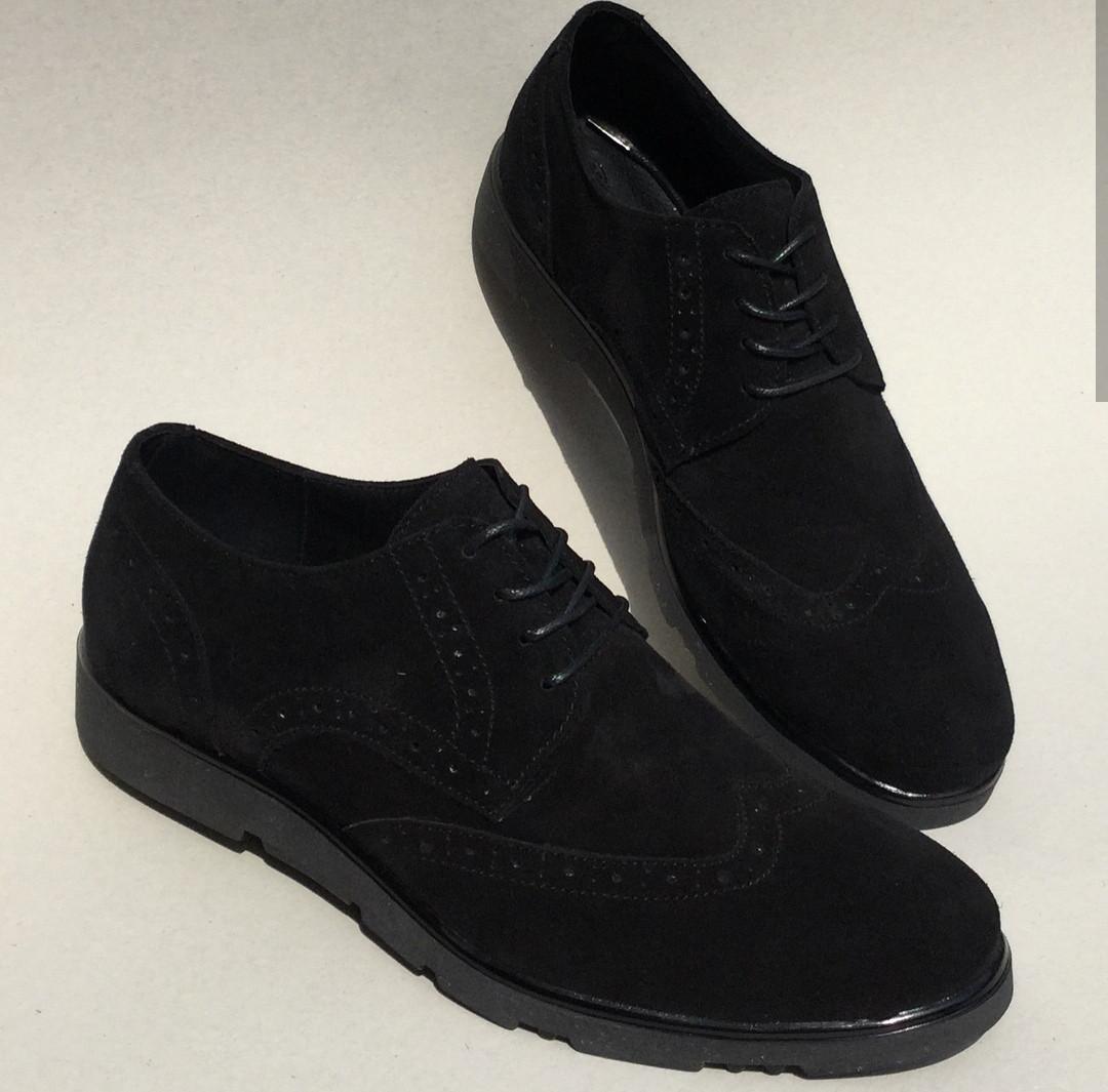 Timberland Oxford мужские черные замшевые туфли броги оксфорд реплика  Тимберленд 392a86f37c62f