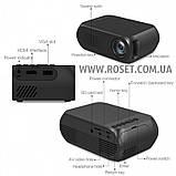 Світлодіодний проектор - LED Projector YG-320 Mini, фото 6
