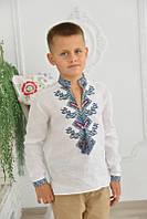 Вишиванка дитяча для хлопчика Дерево життя (білий льон)