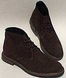 Clarks Men Desert Boot мужские коричневые замшевые ботинки реплика дезерты весна осень 2020, фото 9