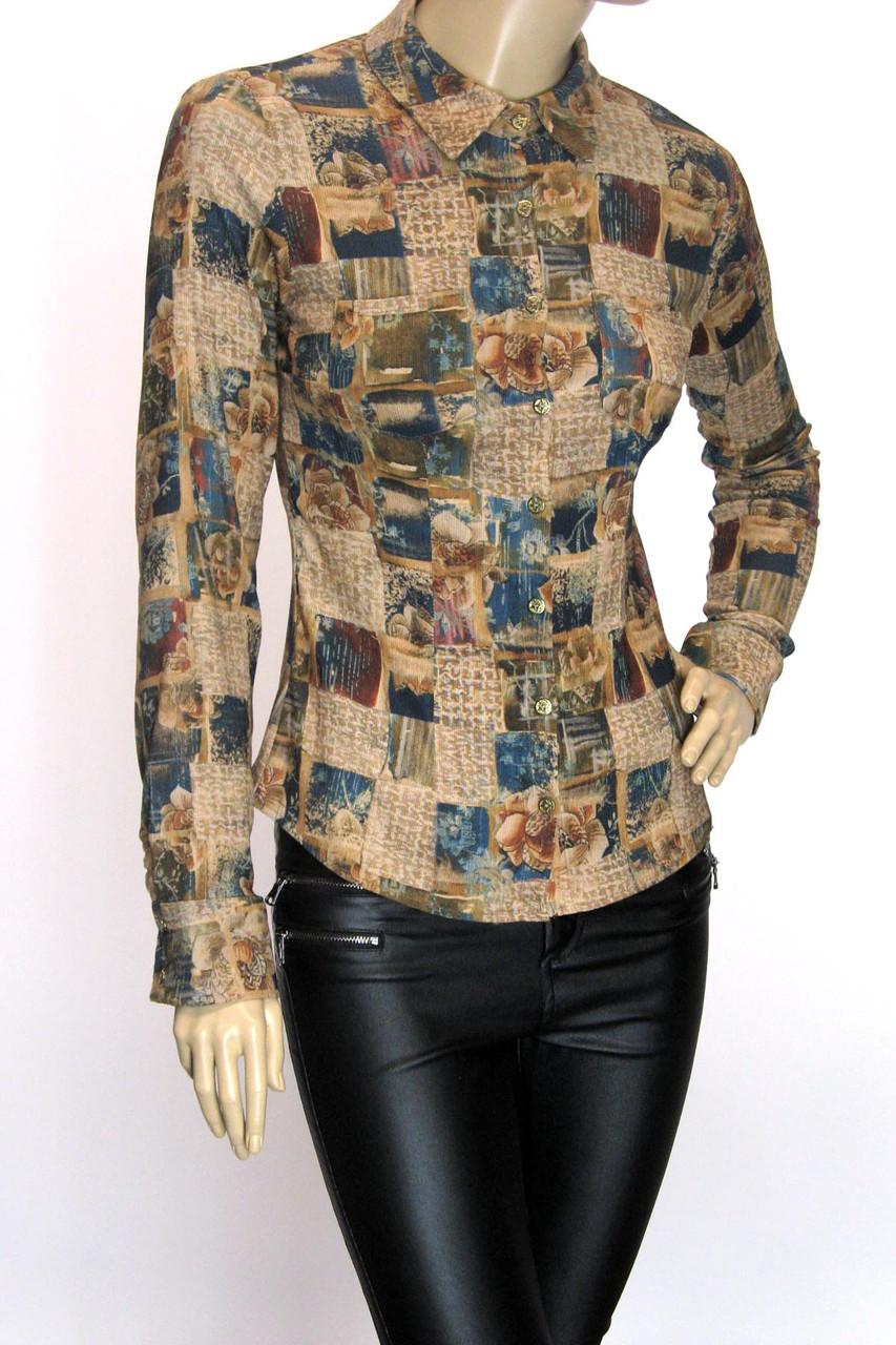 сорочка блузка з мікровельвету