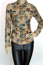 сорочка блузка з мікровельвету, фото 3