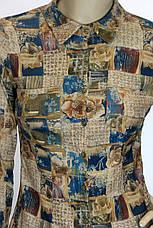 сорочка блузка з мікровельвету, фото 2