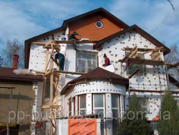 Утеплення заміського будинку пінополістиролом: як здійснюється