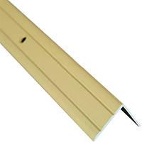 Профиль алюминиевый лестничный 24.5х20 мм 0.9 м золотой N60611605