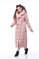Пальто удлинённое стеганое КОМИЛЬФО  МИЛИТАРИ больших размеров 42-54