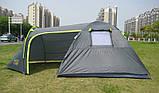 Палатка туристична 4-х місцева GreenCamp 1009-2 два входи 440x245x155 см, фото 2