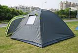 Палатка туристична 4-х місцева GreenCamp 1009-2 два входи 440x245x155 см, фото 5