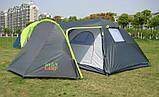 Палатка туристична 4-х місцева GreenCamp 1009-2 два входи 440x245x155 см, фото 4
