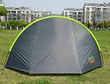 Палатка туристична 4-х місцева GreenCamp 1009-2 два входи 440x245x155 см, фото 7