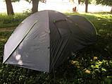 Палатка туристична 4-х місцева GreenCamp 1009-2 два входи 440x245x155 см, фото 9