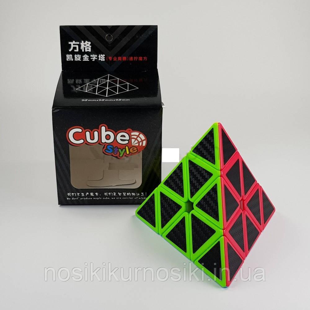 Головоломка Пирамида Cube Style Pyraminx 3-x слойное углеродное волокно