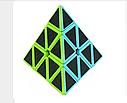 Головоломка Пирамида Cube Style Pyraminx 3-x слойное углеродное волокно, фото 3