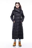 Пальто удлинённое стеганое КОМИЛЬФО  МИЛИТАРИ больших размеров 44-52-54