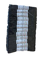 Резинка бельевая черная Алпан, тесьма вязаная отделочная черная, резинка (трусовая), 3 м, фото 1