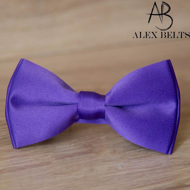 Бабочка мужская однотонная (светло-фиолетовый)