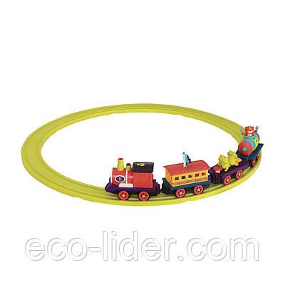Игровой набор с железной дорогой - БАТТАТОЭКСПРЕСС (свет,звук,водяной пар,4 вагончика, диаметр 91см)