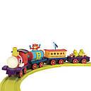 Игровой набор с железной дорогой - БАТТАТОЭКСПРЕСС (свет,звук,водяной пар,4 вагончика, диаметр 91см), фото 3