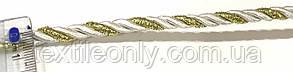 Шнур канат декор витой цвет серебро с золотом 5 мм , фото 2