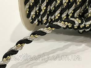 Шнур канат декор витой с бусинами 5 мм , фото 2