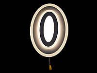 Светодиодный светильник настенно-потолочный белый 8478, фото 1
