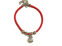 Браслет красный, Денежный мешок, Античное серебро