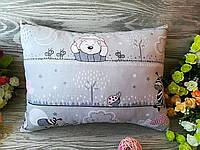 Подушка детская розовый мишка  , 38 см * 30 см