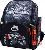 Школьный ортопедический рюкзак DeLune для мальчика машина