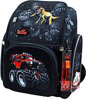 Школьный ортопедический рюкзак DeLune для мальчика машина динозавр
