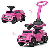 Детский толокар электромобиль Мерседес Mercedes, 2 в 1, Bambi M 3853EL-8, свет, звук MP3, USB. Розовый.