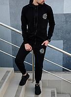 Спортивный костюм мужской зимний черный в стиле Anti Social Social Club, фото 1