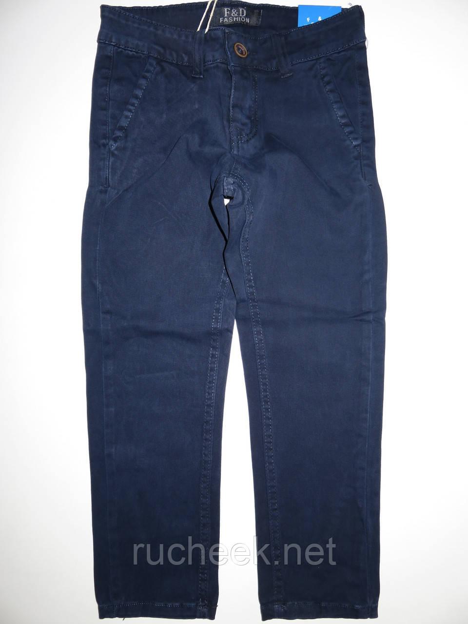 Коттоновые брюки для мальчика школа, джинсы синие р 16 лет, Венгрия F&D
