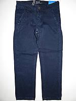 Коттоновые брюки для мальчика школа, джинсы синие р 16 лет, Венгрия F&D, фото 1