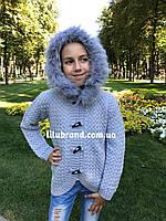 Теплая кофта на девочку, фото 1