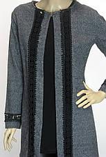 жіночий кардиган пальто з мережевом, фото 3