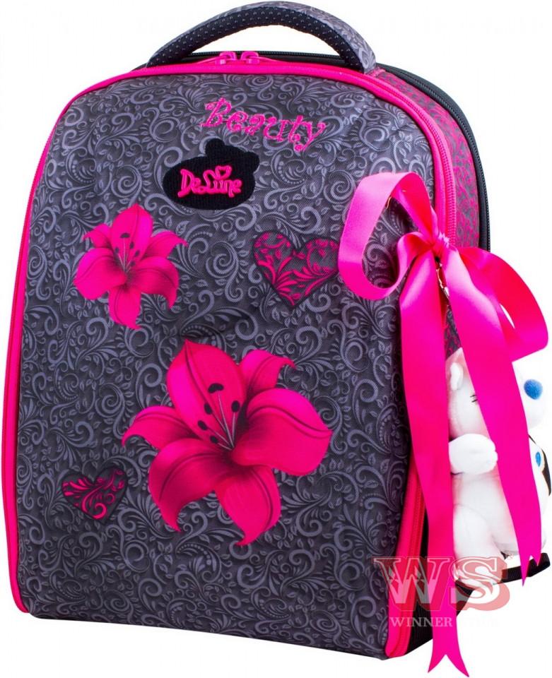 8169490453b6 Школьный ортопедический рюкзак DeLune для девочек цветы: продажа ...