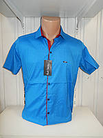 Рубашка мужская Paul Smith короткий рукав, стрейч, заклёпки узор №12.08.2018 001\ купить рубашку