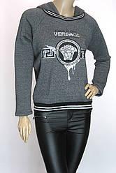 жіночий  світшот на флісі з капюшоном Versace