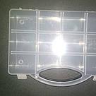Коробка органайзер с ручкой кассетница для мелочей, бисера, рыбалки, фото 3