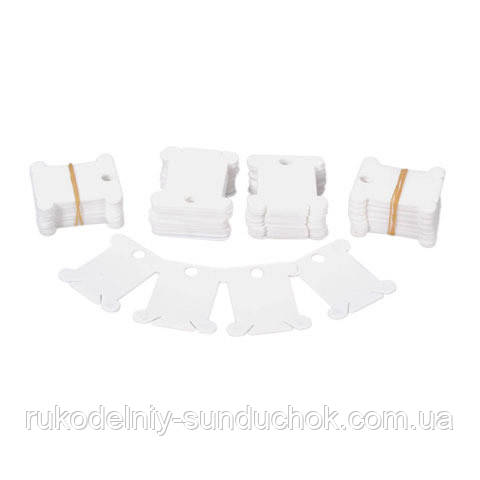 Бобины (шпули) для мулине пластиковые белые Darice (20 шт)