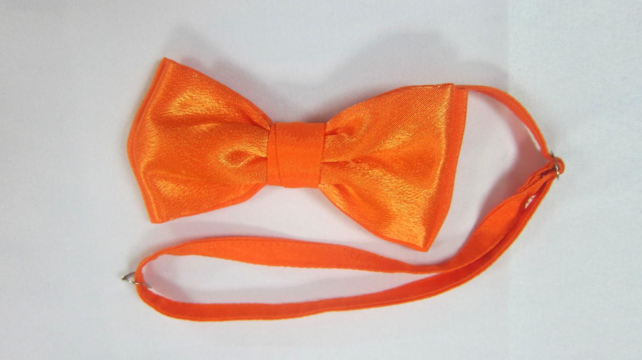 Галстук бабочка Atteks оранжевая атласная - 1223