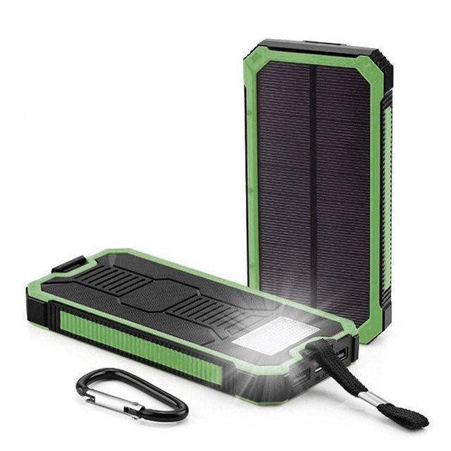 Power bank Solar 40000 с солнечной батареей.Портативное зарядное устройство Павербанк LED