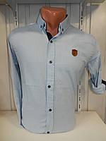 Рубашка мужская SPORT длинный рукав, мелкий узор, стрейч 004\ купить рубашку