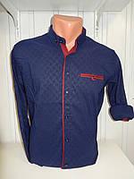Рубашка мужская SENATOT длинный рукав, мелкий узор, стрейч 004 \ купить рубашку