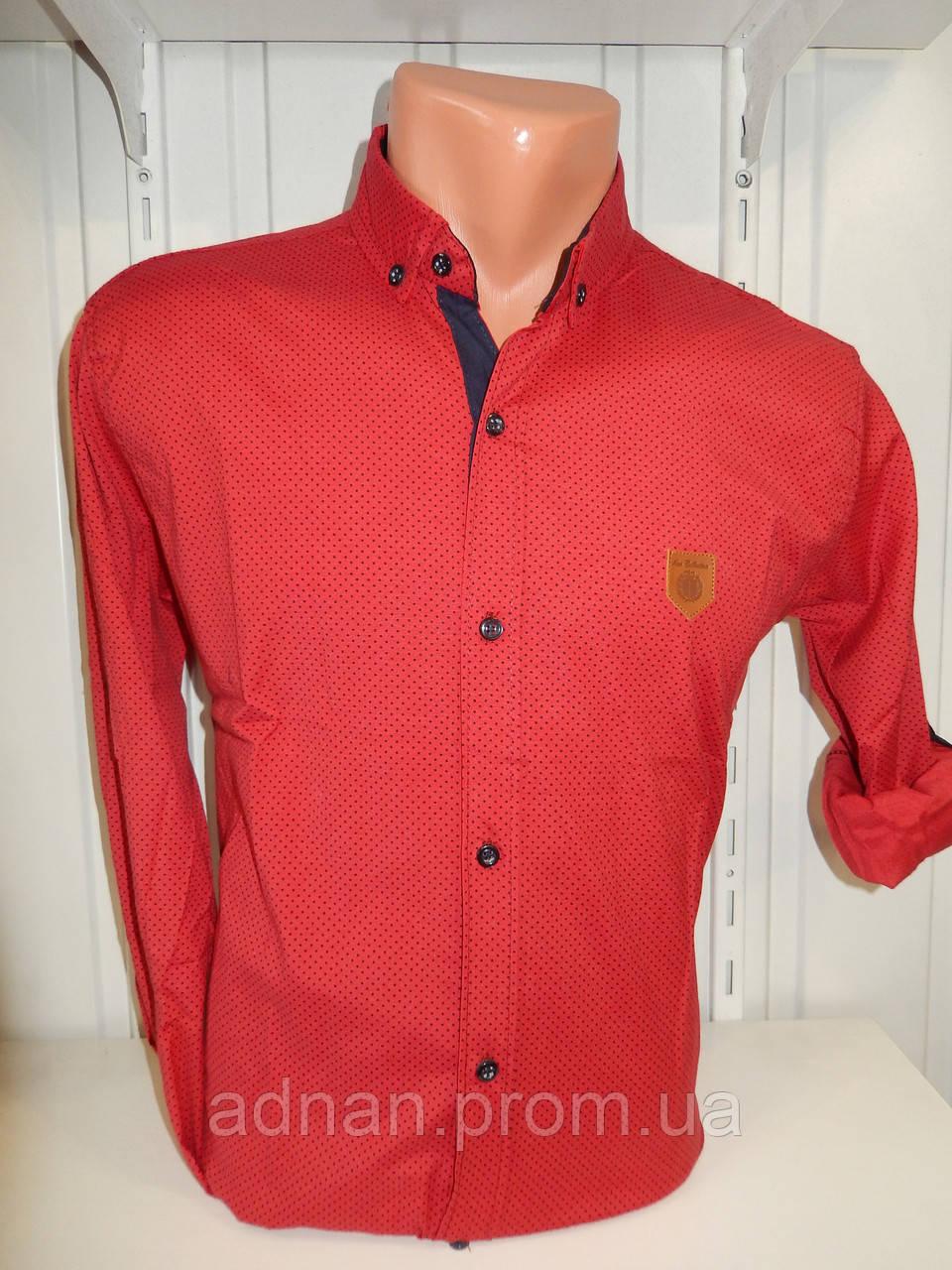 Рубашка мужская SENATOT длинный рукав, мелкий узор, стрейч 009 \ купить рубашку