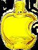 Флакон для наливной парфюмерии цветной Эпл 15 мл комплектация металлический спрей желтый