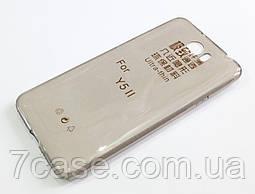 Чехол для Huawei Y5II / Y5 II / Y5-2 / Y5 2 силиконовый ультратонкий прозрачный серый