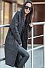 Женская вязаная парка «Китти» с принтом по спинке в расцветках. ВС-1-0818, фото 6