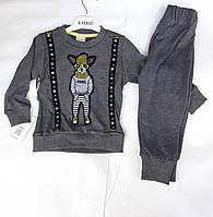 Детскийкостюмдлямальчиков 3-6лет, темно-серый